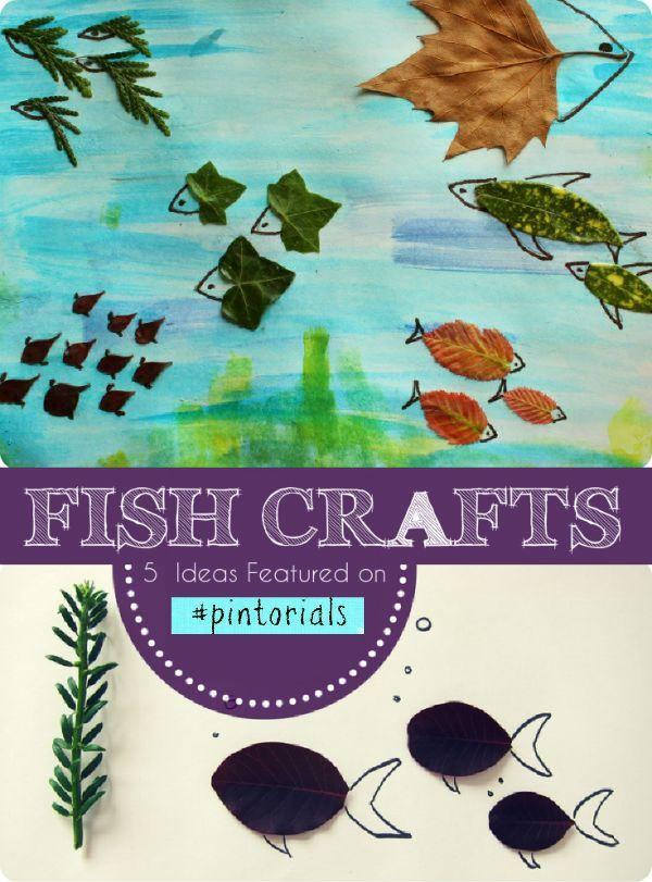 Fish themed craft ideas for kids, featured on Tuesday Tutorials / Pintorials   #preschool #kidscrafts #fish