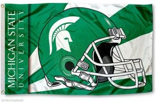 Michigan State Spartans College Football Flag Michigan State Michigan State University Michigan State Spartans