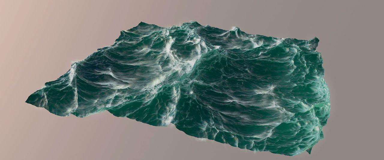 water cinema 4d realistic ocean create c4d test vimeo plugin tutorial thepixellab waves 3d rendered map v0