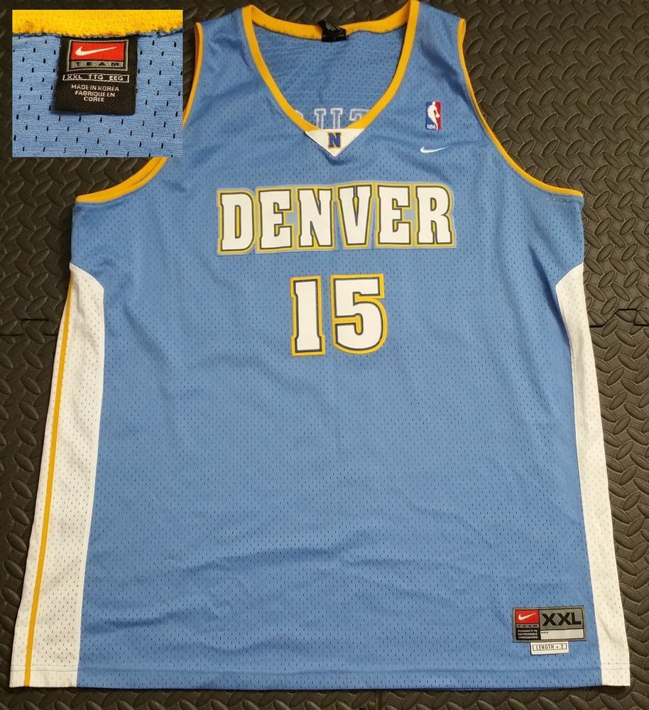 aa515250bd8 Details about Carmelo Anthony Denver Nuggets Nike Plus 2 Length Nba ...