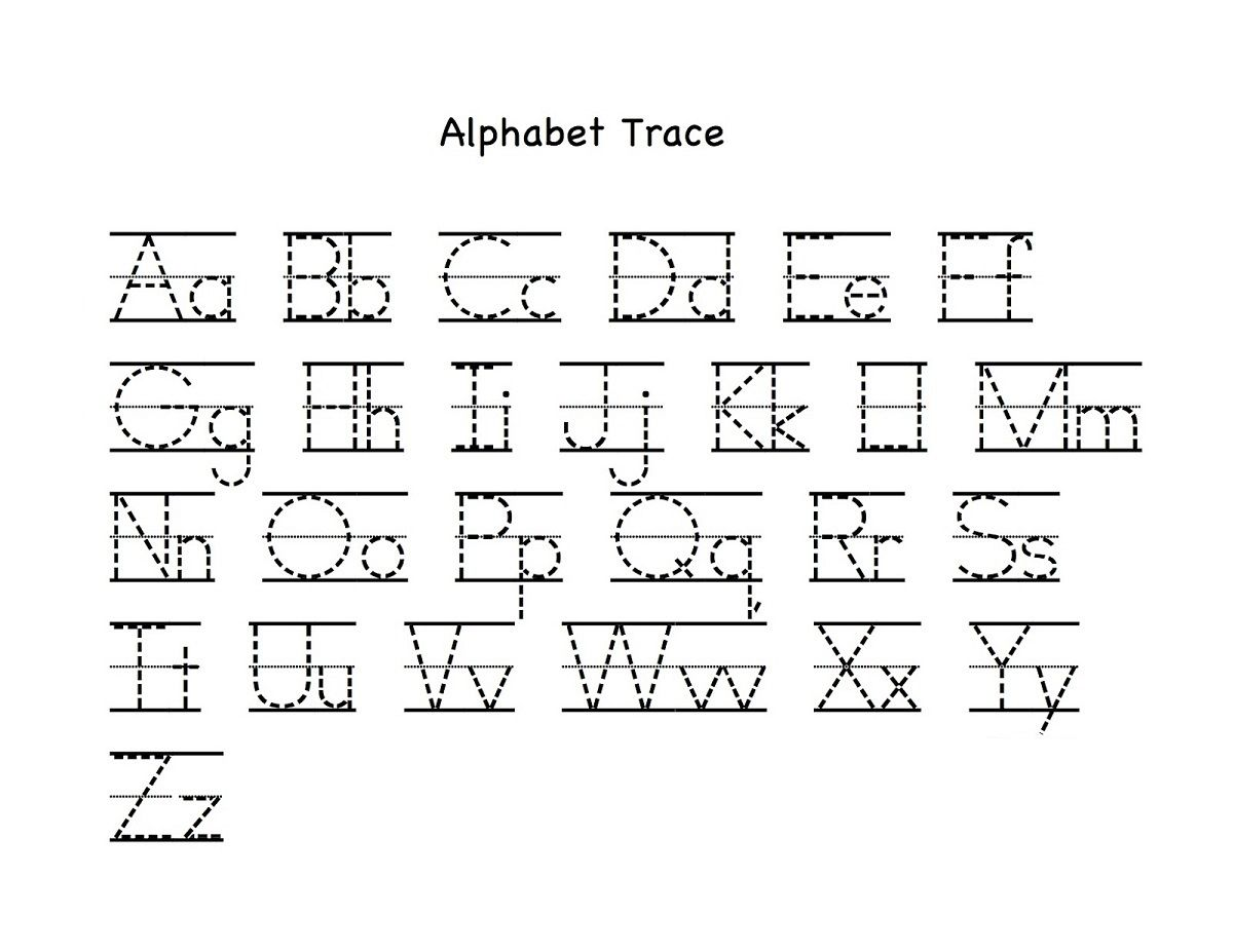Alphabet Letter Tracing Printables