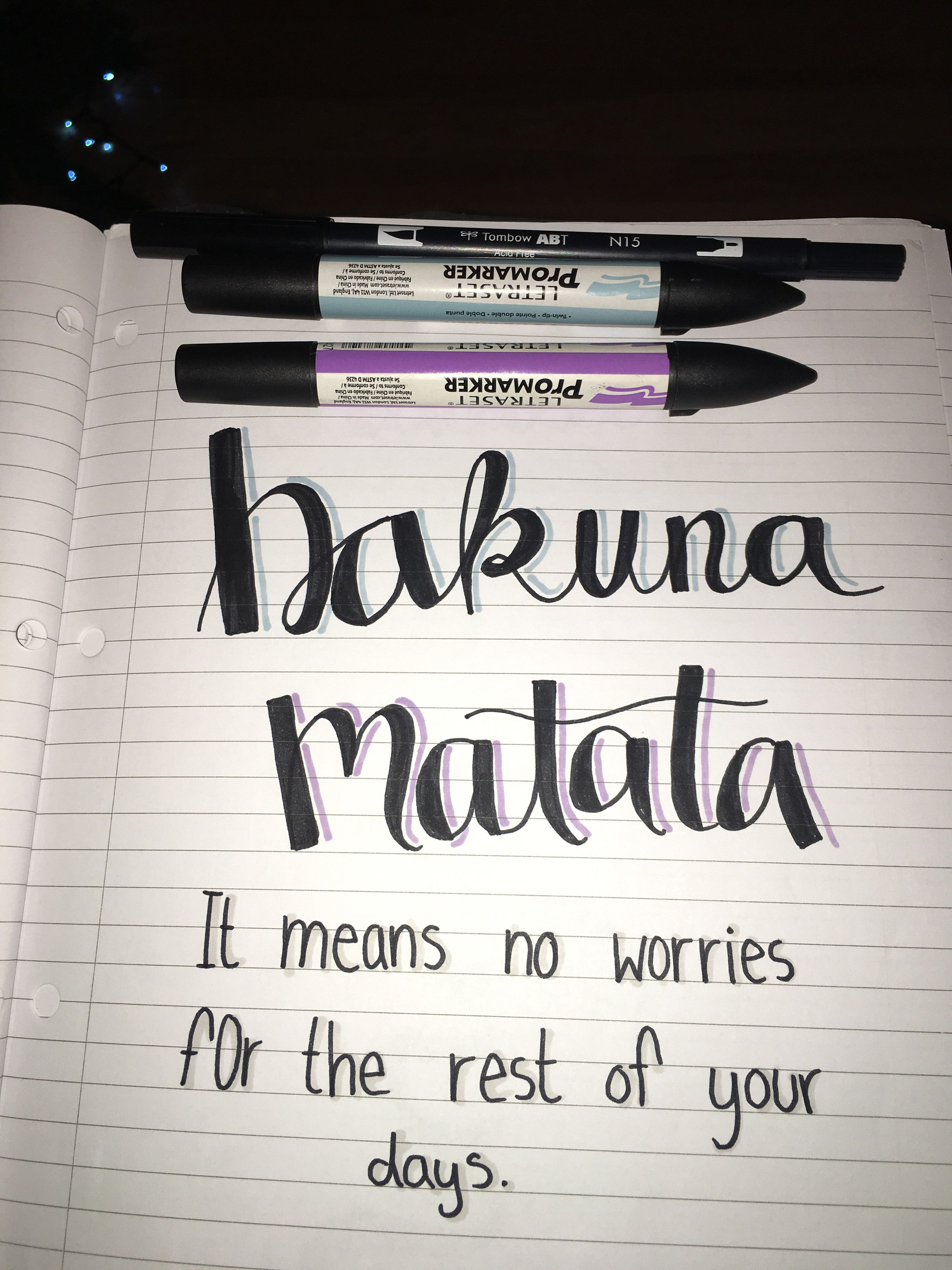 Faux Calligraphy Done Using Tombow Dual Brush Pen And Letraset Pro Markers