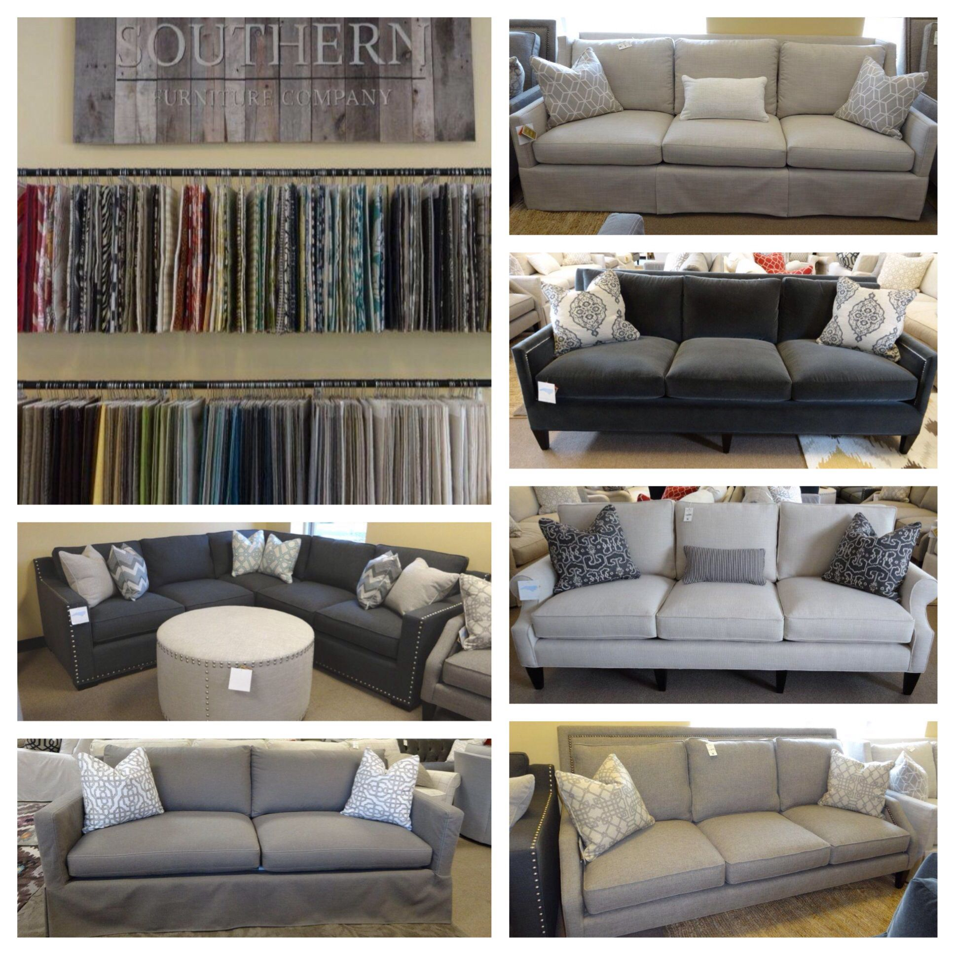 Southern Furniture Hudson Sofa With Ottoman Chaise New On The Showroom Floor Company