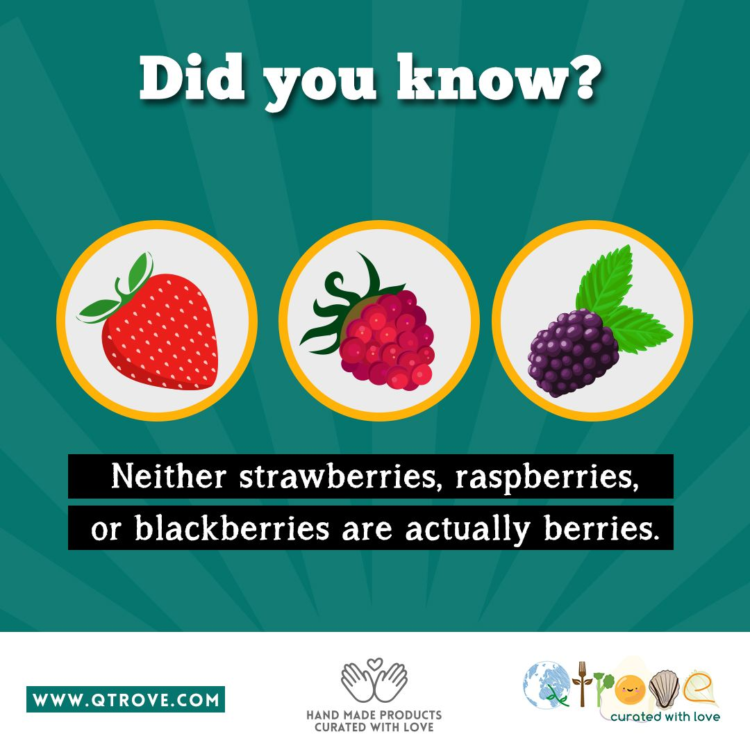 """The Official Definition Of A Berry Is """"a Fleshy Fruit"""