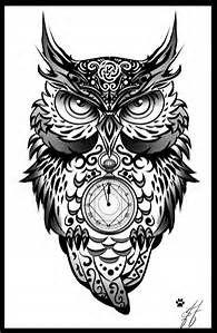 Evil Owl Art Tatuagem Coruja Corujas Tatoo Tatuagem Coruja Maori