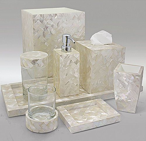 Gail Deloach Bath Accessories Gail Deloach Mother Of Pearl White