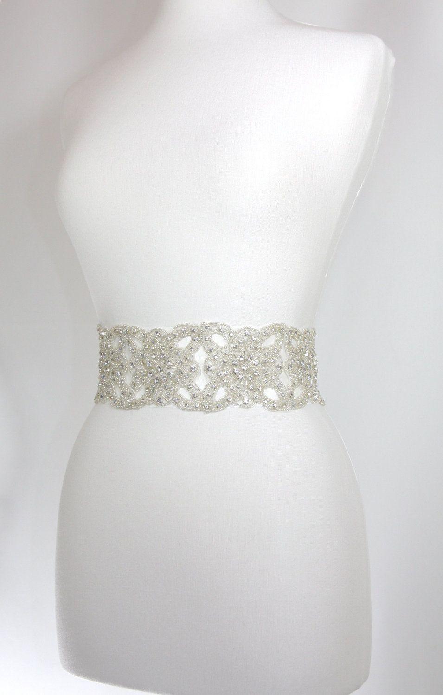 3 Bridal Belt Sash  wedding gown sash by GlamHouse on Etsy, $150.00
