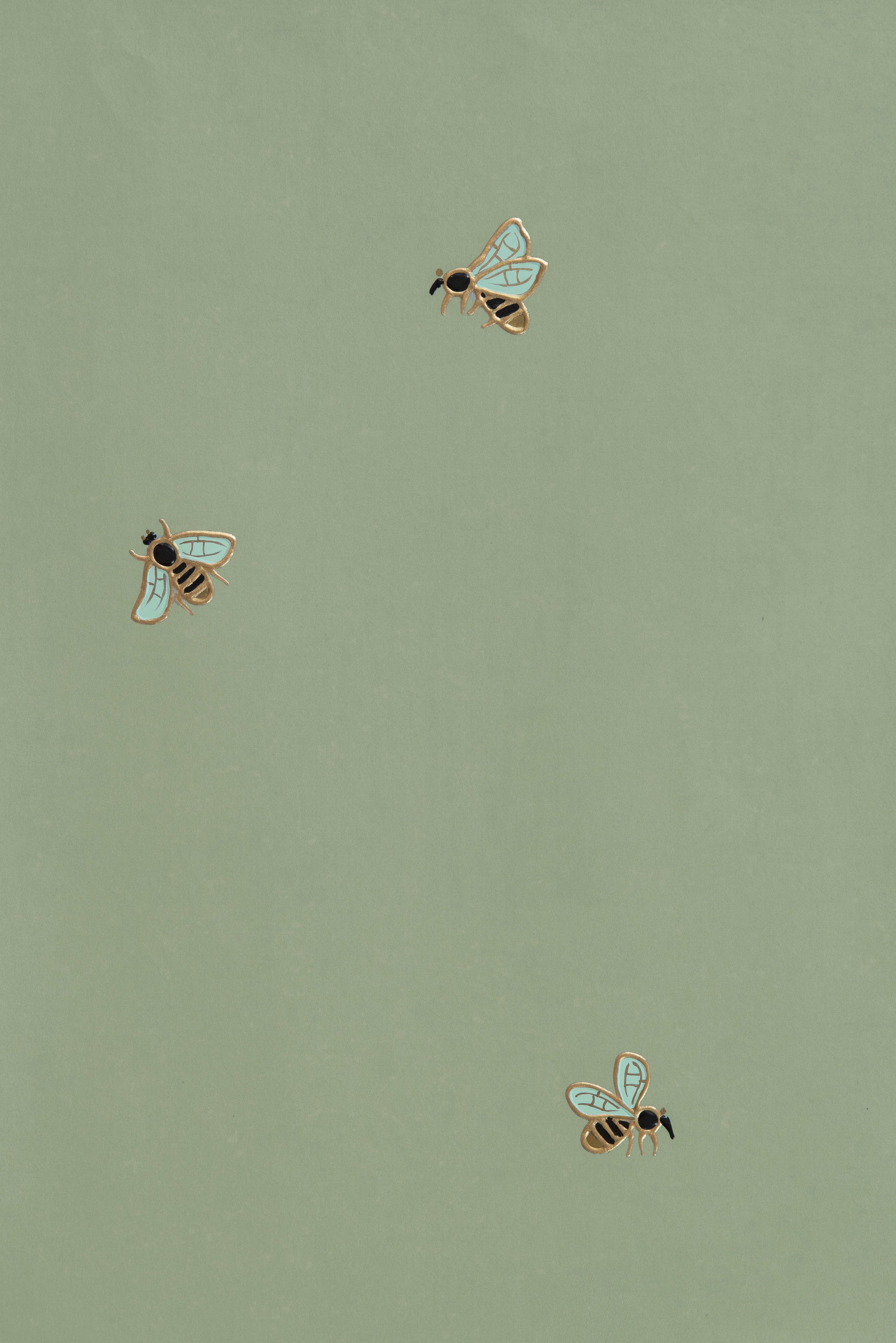 The Bees Fromental Green Wallpaper Green Aesthetic Sage Green Wallpaper