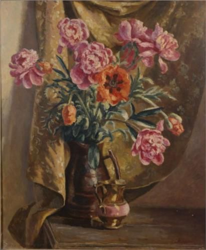 Peonies and Poppies - Roger Fry 1929