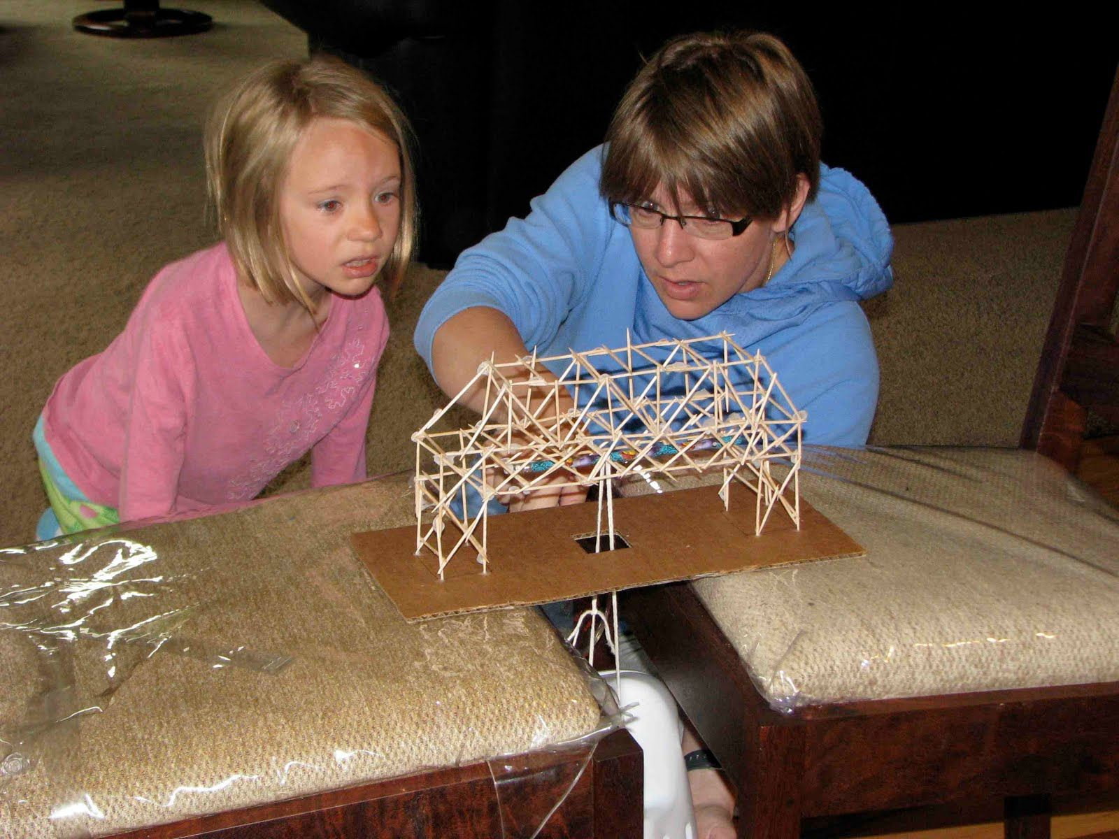 Building Toothpick Bridges . Lesson Plan Stem