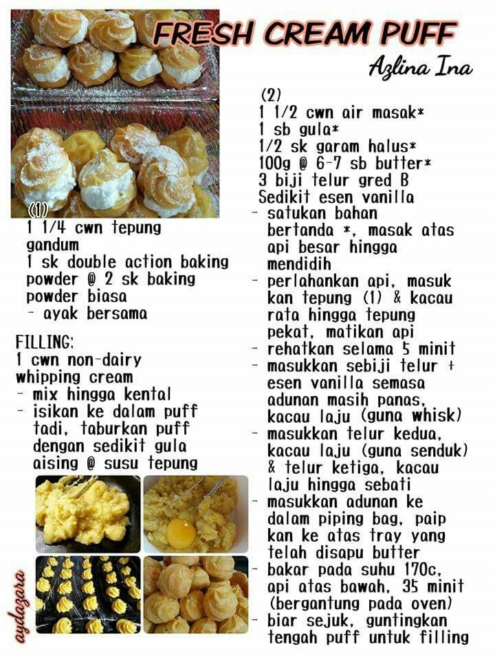 Fresh Cream Puff Cream Puff Recipe Cream Puff Cakes Food