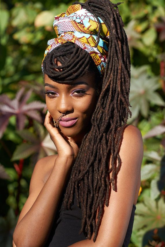 Turquoise Ankara Headwrap by HawasBoutique on Etsy | Hair ...