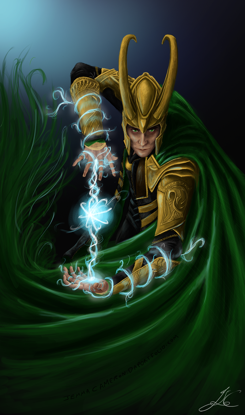 Loki - God of Mischief by *Arcaneillusions on deviantART