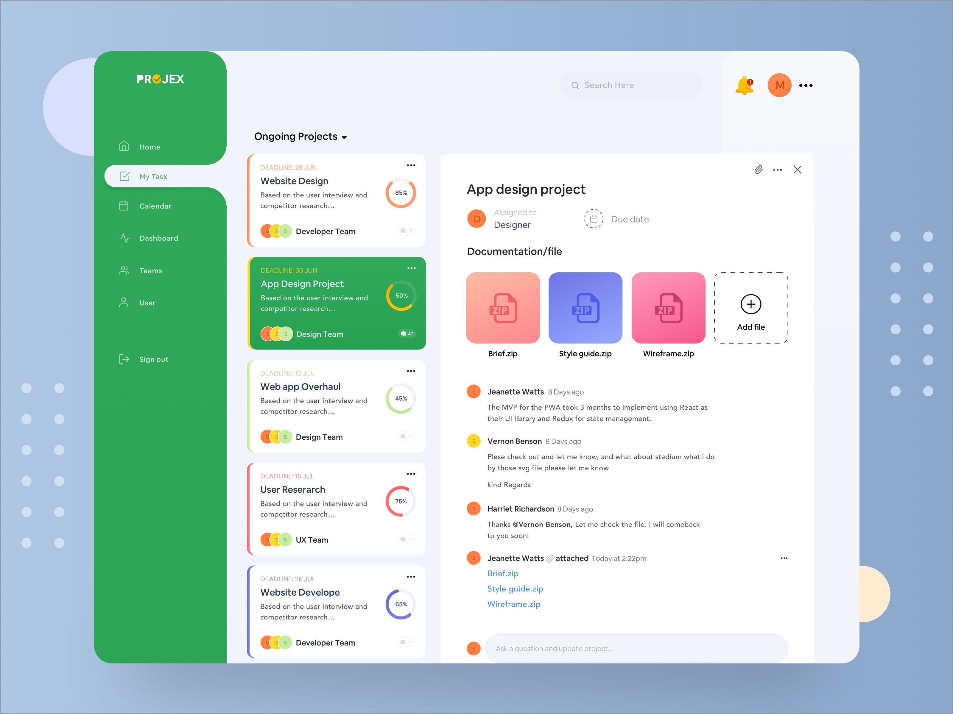 Project Management Tool Project Management Tools Web App Design Dashboard Design