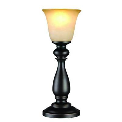 Hampton Bay 16 In Oil Rubbed Bronze Uplight Buffet Lamp Ep0842obr The Home Depot Buffet Lamps Clear Glass Table Lamp Table Lamp Wood