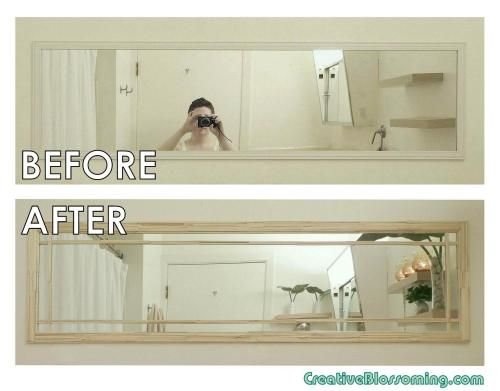 Plain Jane Wall Mirror Makeover With Images Modern