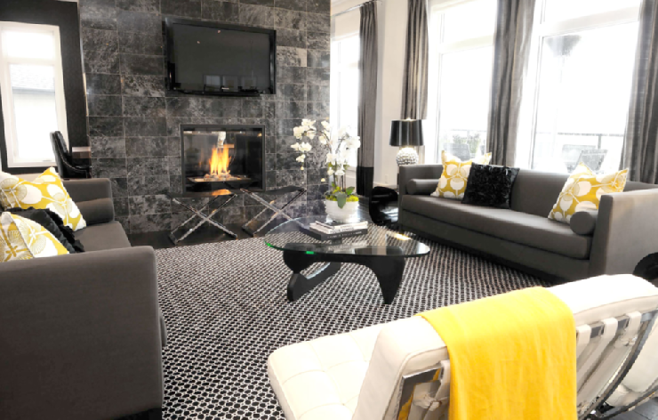 Suzie Atmosphere Interior Design Chic Modern Yellow Gray