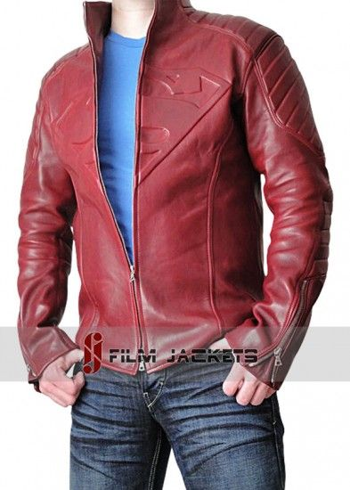 The Superman Smallville Red Leather Jacket Has Been Made With Great Interest By Our Makers Available On F Leather Jacket Men Jackets Men Fashion Leather Jacket