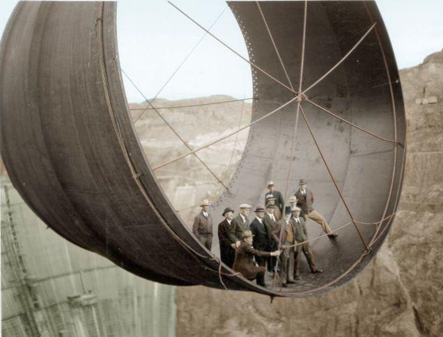 Turbina de la Presa Hoover principios de 1930