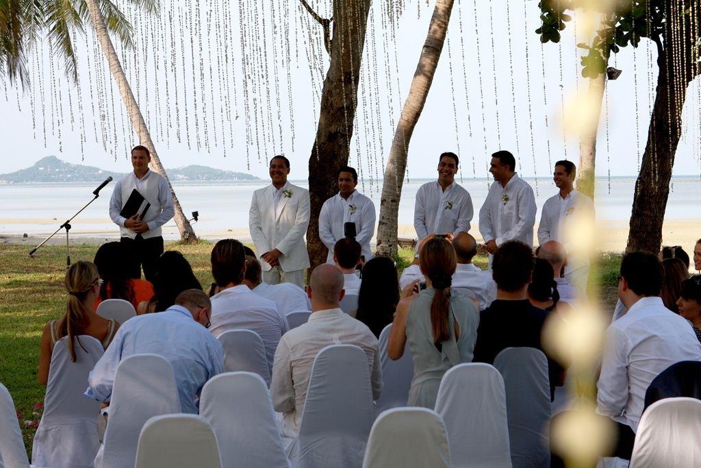A beach wedding hosted by X2 Samui Resort