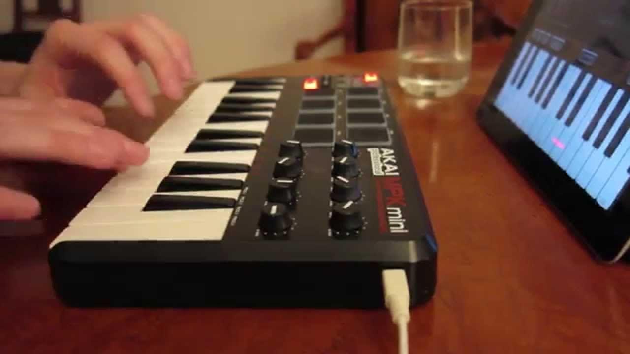 Beat Making 1 Ipad Garageband Akai Mpk Mini Youtube Garage Band Music Studio Room Akai