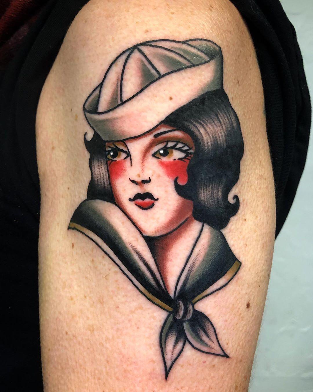 •Sailor• #tattoo #tattoos #tattooing #tattooist #tattooer #tattooink #tattooart #tattooflash #tattooideas #tattoodesign #traditional #colours #color #traditionalrosetattoo #traditionaltattoo #oldschool #oldschooltattoo #oldlines #bold #boldlines #indian #sailor #sailorwoman #fullcolor #traditionalsailor #sailortattoo #marinela #traditionaltattoospain #traditionalspain #greylinetattoo @david_larra_tattoo @greylinetattoo @traditionalspain