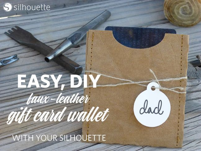 Faux leather gift card wallet card wallet silhouette projects and diy create your own easy fast faux leather gift card wallet silhouette project complete tutorial solutioingenieria Gallery