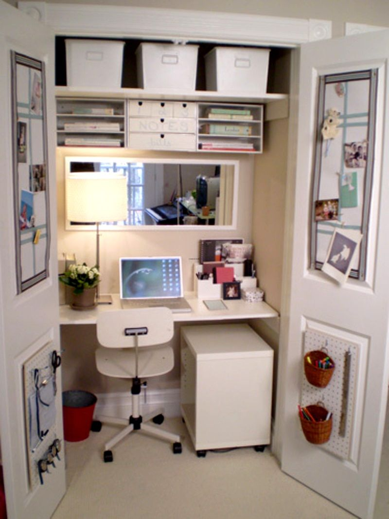 Great Computer Desk Ideas for Small Spaces Design for Our Workings Space : Fascinating Computer Desk Ideas For Small Spaces In Closet & Great Computer Desk Ideas for Small Spaces Design for Our Workings ...