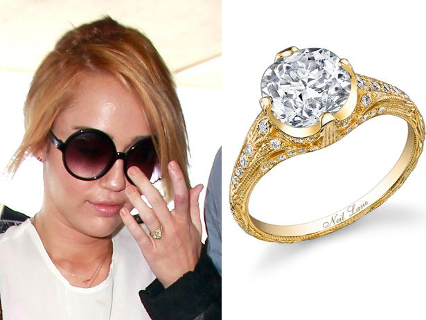 Merveilleux Miley Cyrus Engagement Ring