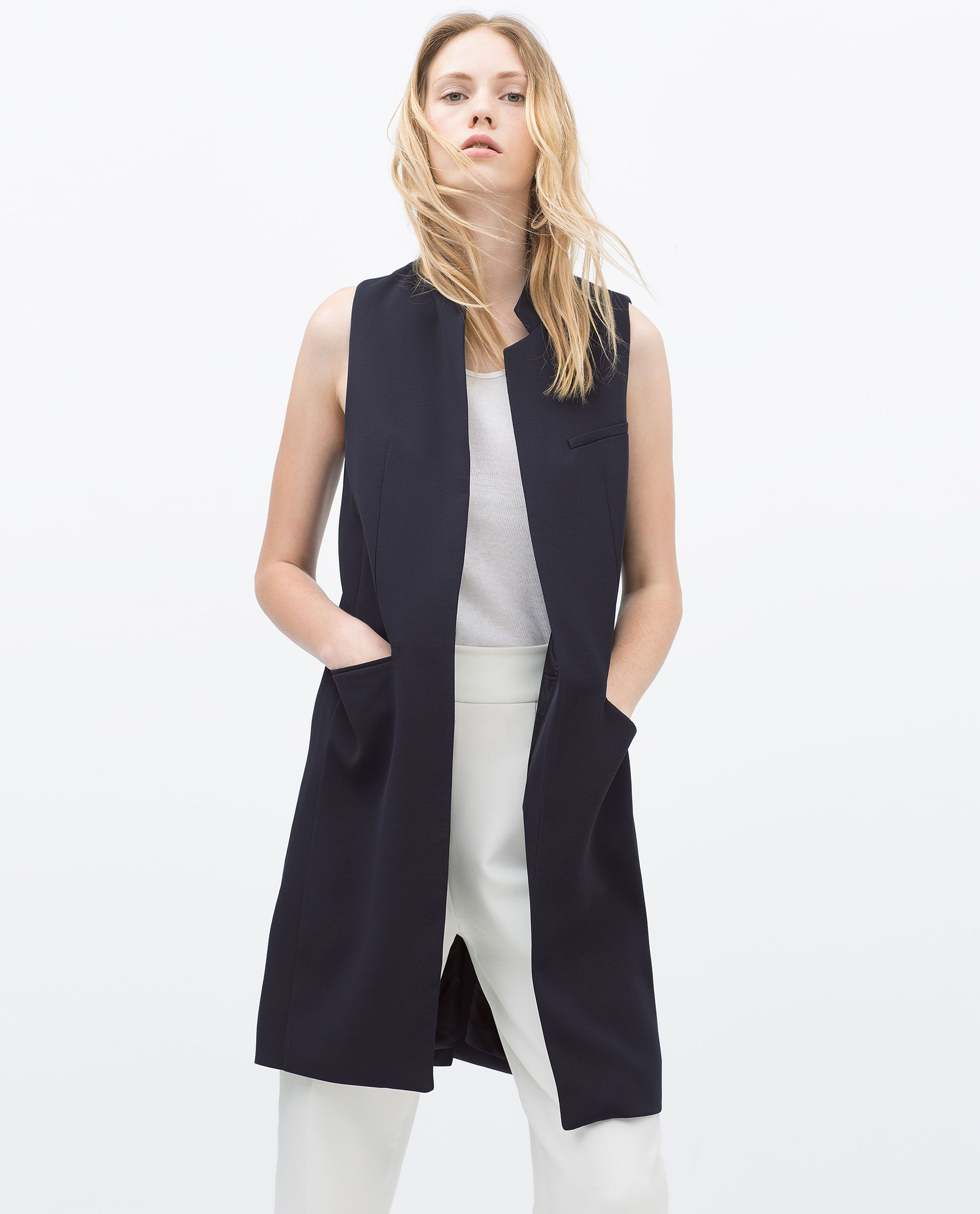 db55c9d24c0 LONG TAILORED WAISTCOAT - View all - Jacket - WOMAN