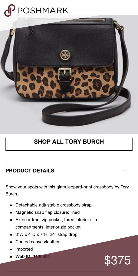 da5e2fb1161 Tory burch kerrington NWT leopard crossbody Brand new never used kerrington  purse Tory Burch Bags Crossbody Bags