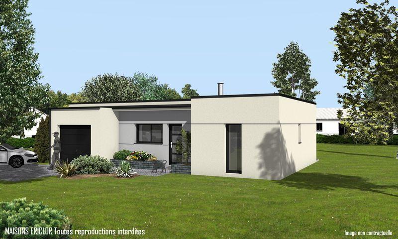 Maison Moderne Sans Toit #12: Modèle Eco-Concept : Maison Moderne à étage De 100m2 Avec Piscine. 2  Chambres + 1 Suite Parentale #Maison #contemporaine #moderne #Piscine # Maisonsu2026
