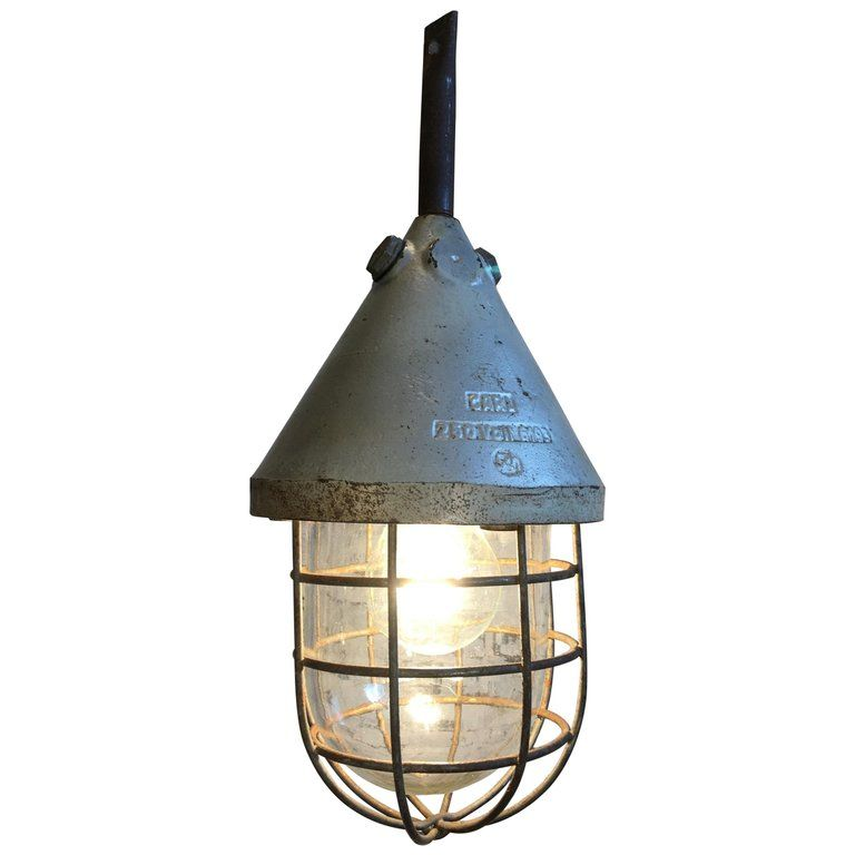 Caged Bunker Lamp 1960s In 2019 Products