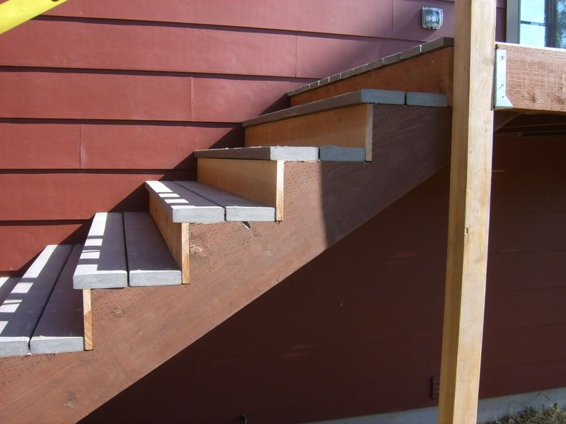 Composite stairs in commercial google search commercial spaces pinterest commercial and for Composite exterior stair treads