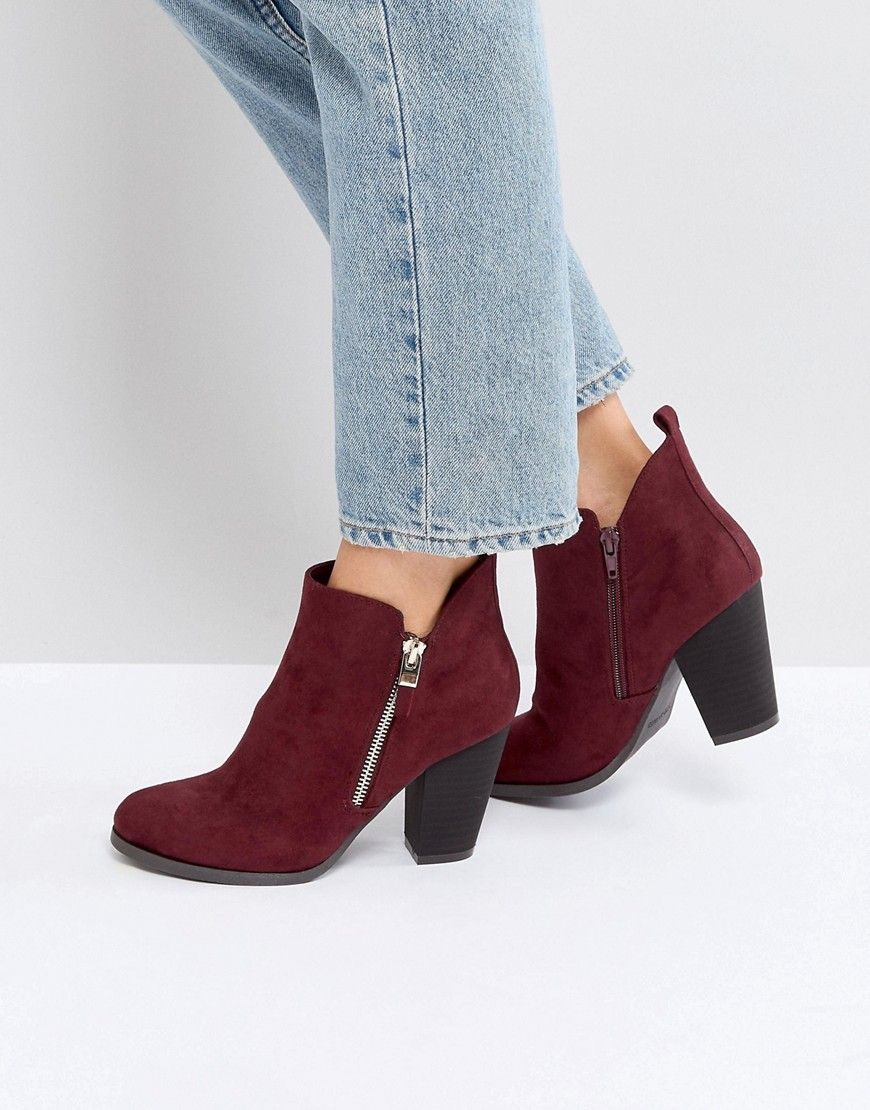 Red Heels & Burgundy Boots