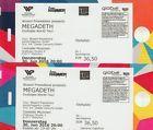 #Ticket  2 x MEGADETH Stehplatz Tickets Tonhalle MÜNCHEN 30/06 #Ostereich