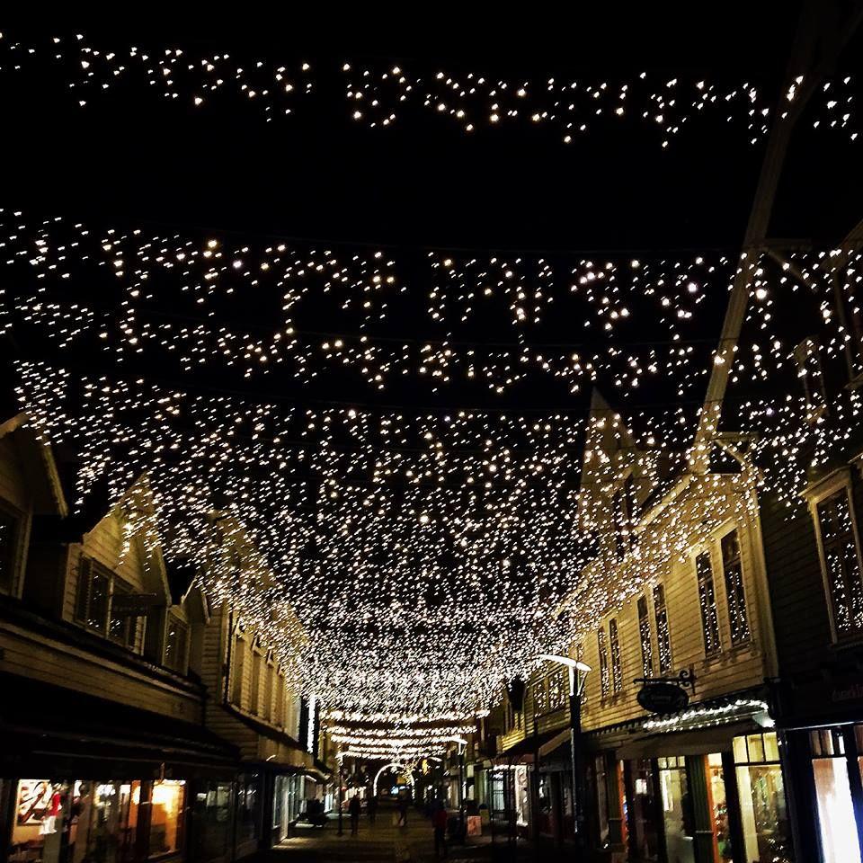 Christmas street in sandnes Norway