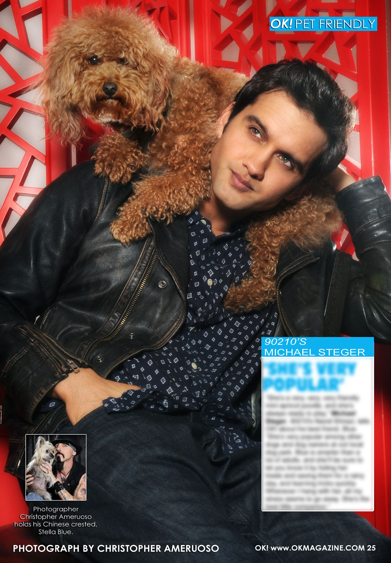 The new installment of my OK! Pets page in OK! magazine on stands today features Michael Steger and his dog Blue. Michael stars on the new 90210. Pick up a copy today :)