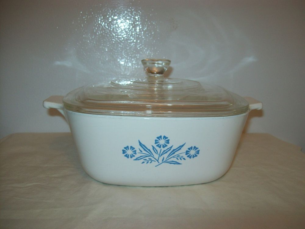 Details About Corning Ware Blue Flower Cerole Baking Dish W Gl Lid Dishes Ceroles And