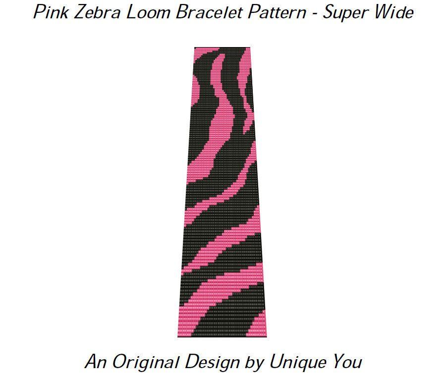 Zebra Loom Pattern PDF INSTANT DOWNLOAD