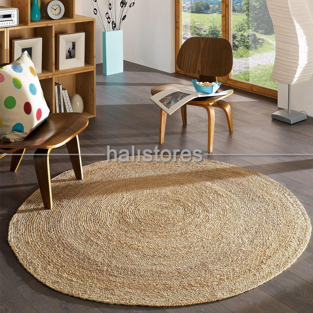 Albero Naturel Jüt Yuvarlak Halı | Inspo: Living Room | Pinterest ...