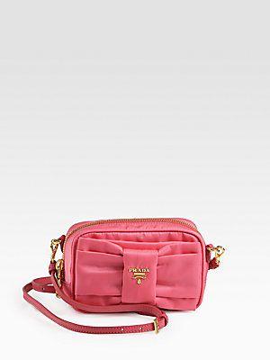8a33cb375287 Prada Tessuto Nylon Bow Crossbody Bag$395 | Shoes & Bags | Prada ...
