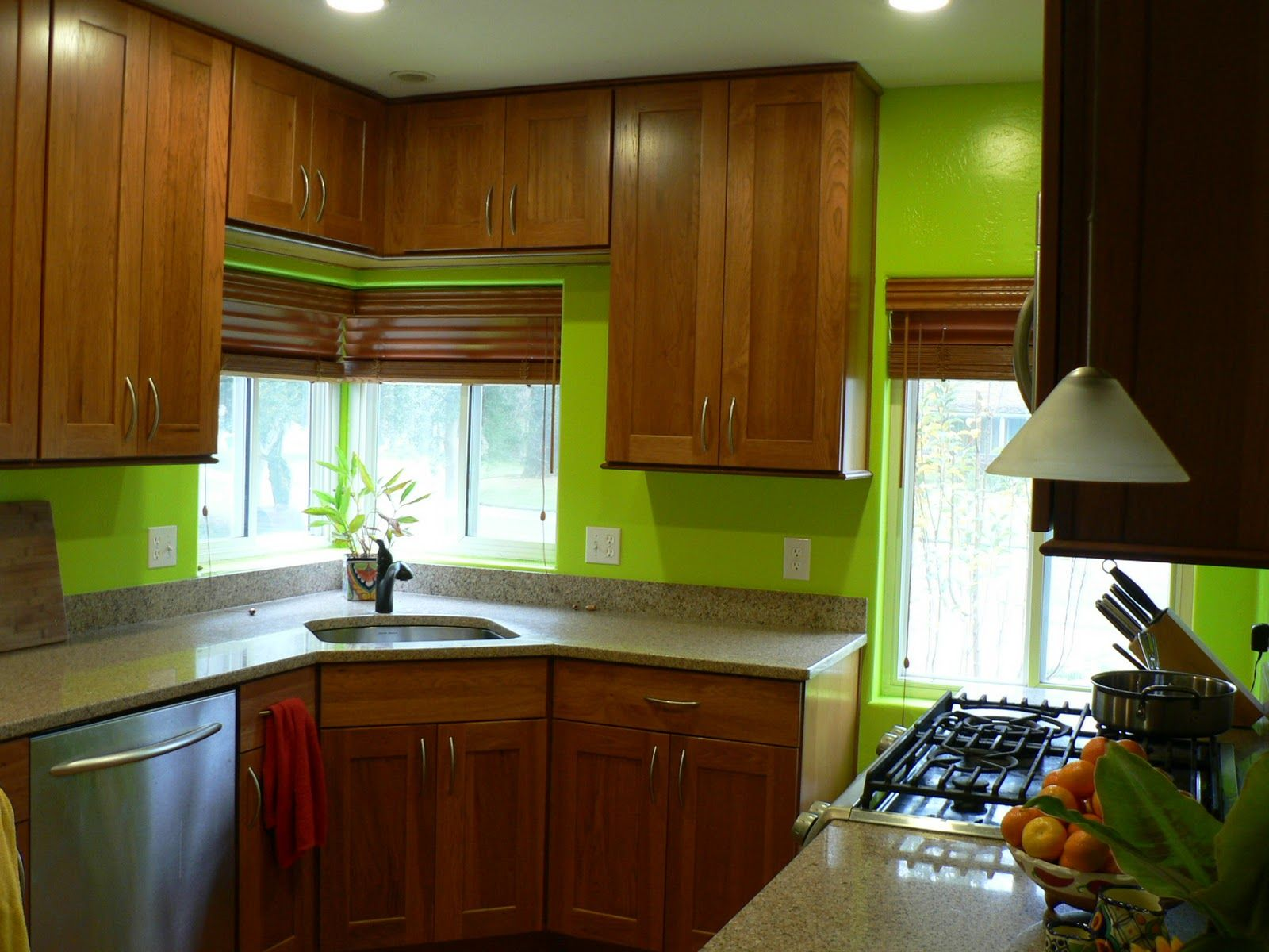 kitchens with green walls | My Bright Green Kitchen. I love her ...
