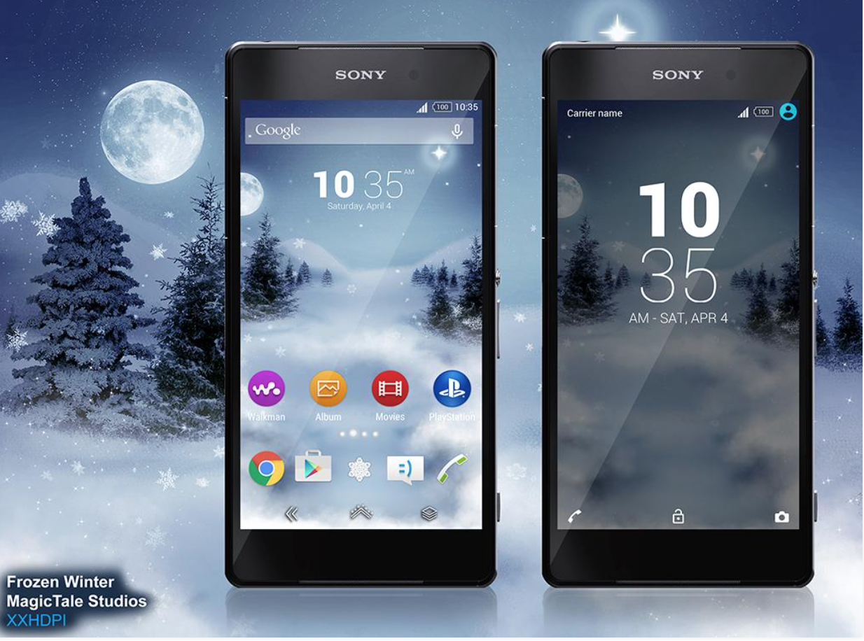 Google themes today - Today We Are Sharing Two Cool Xperia Themes For Lollipop Running Xperia Devices Both Themes