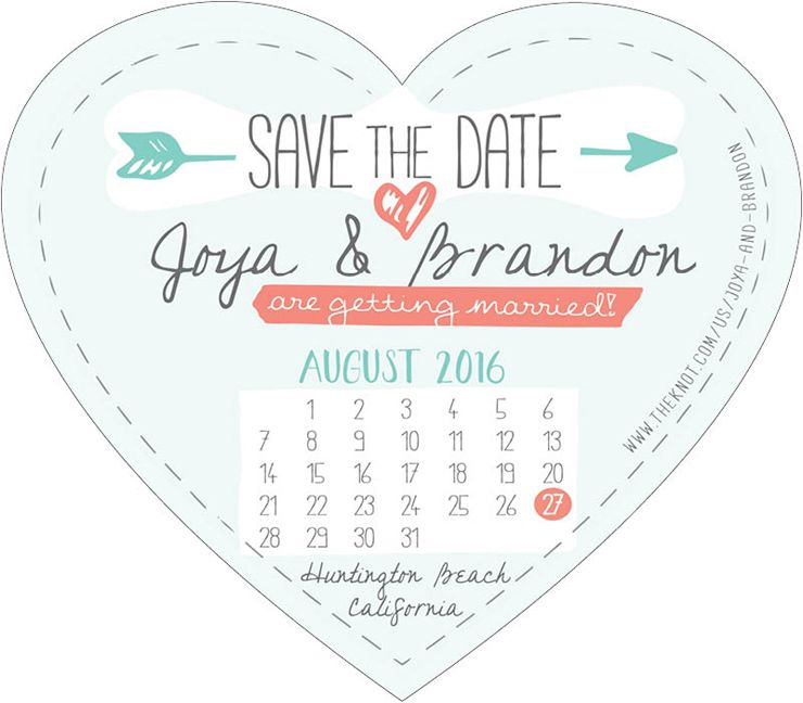 Create Your Own Heart Shaped Save the Date Magnet Heart shapes