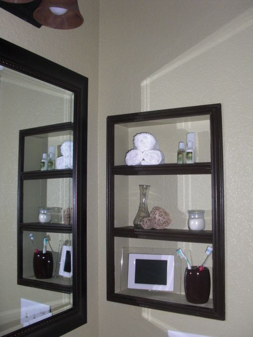 We Removed The Medicine Cabinets And I M Thinking Of Not Replacing But Build This Open One Instead For Nic S Bathroom