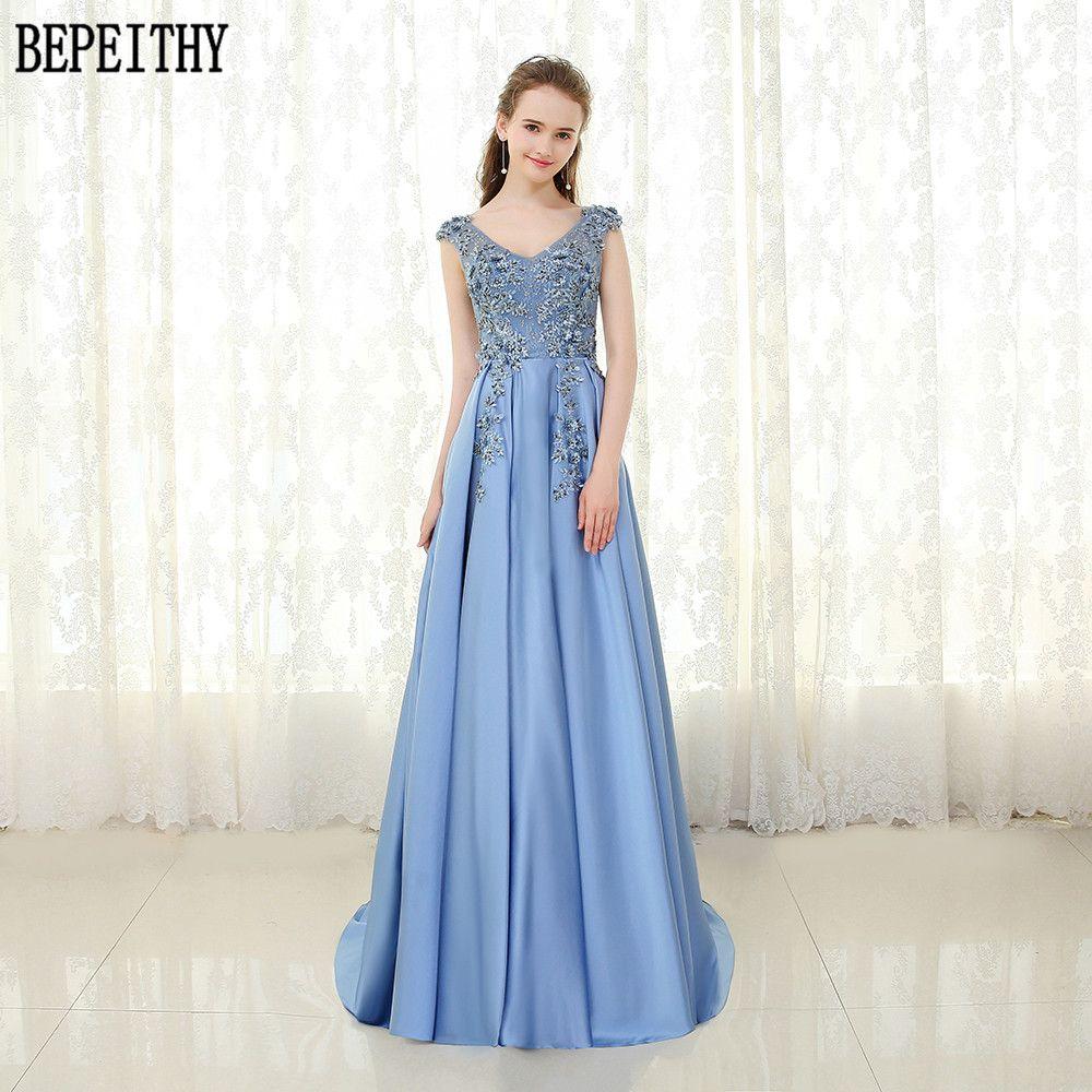 Click to buy ucuc bepeithy vestido de festa elegant aline satin v