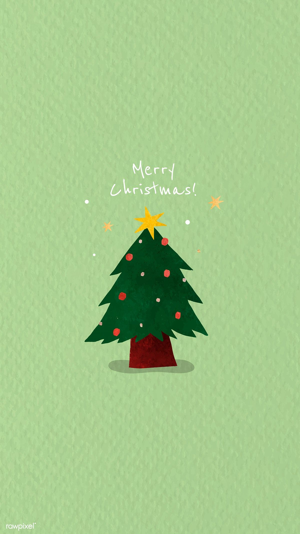 Download Premium Vector Of Christmas Tree Doodle Background Vector 1227270 Christmas Tree Drawing Tree Doodle Cute Christmas Wallpaper