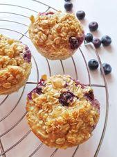 Rezept für Haferflocken Muffins mit Blaubeeren - SIMPLYLOVELYCHAOS