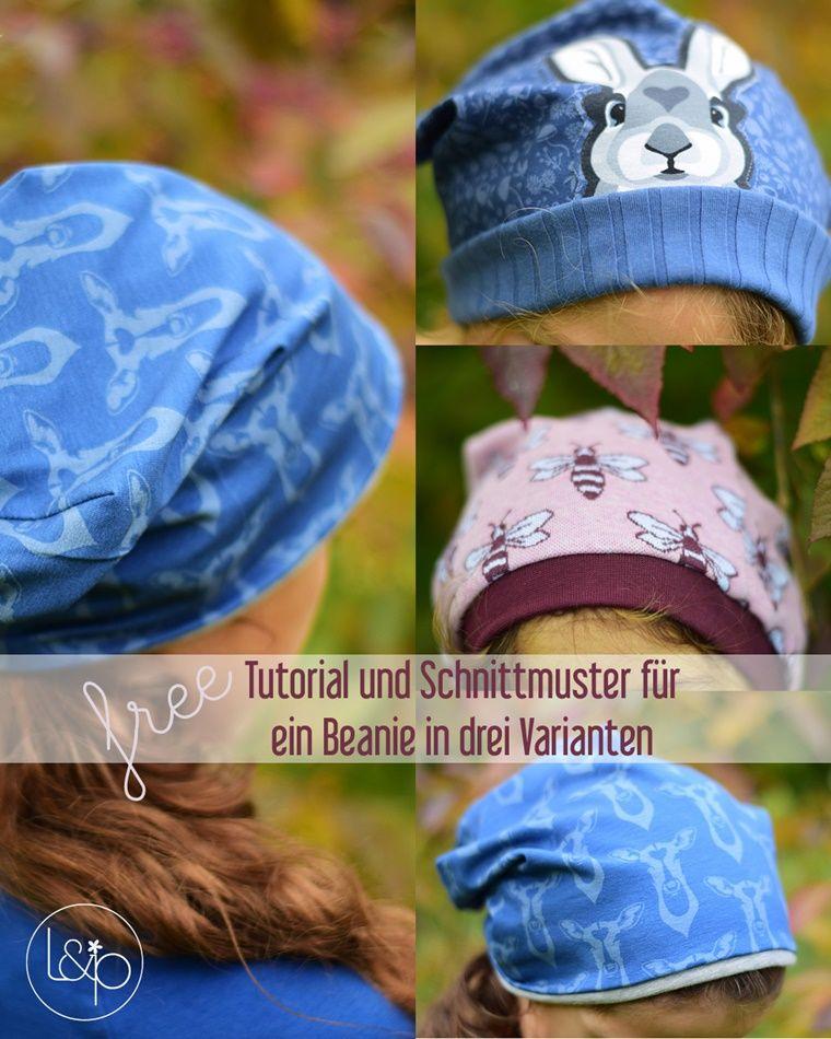 kostenloses Schnittmuster Anleitung Tutorial Beanie Mütze Damen ...